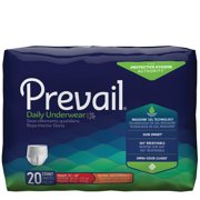 First Quality Adult Absorbent Underwear Prevail Daily Underwear Pull On Medium Disposable Moderate Absorbency Pack of 20