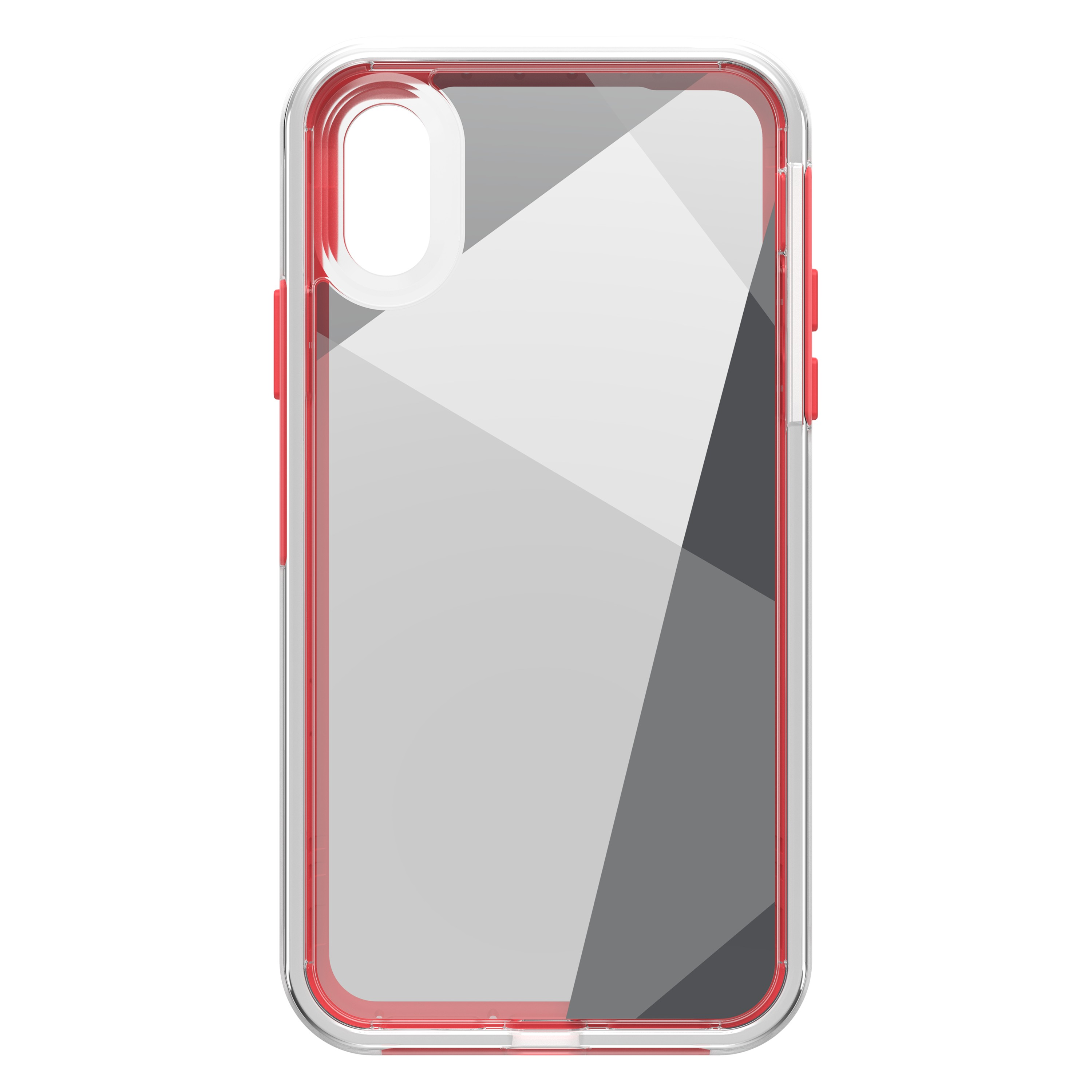 quality design 7cc04 23d41 LifeProof iPhone Xs Red/Clear (What's The Angle) Slam case - 77-60204