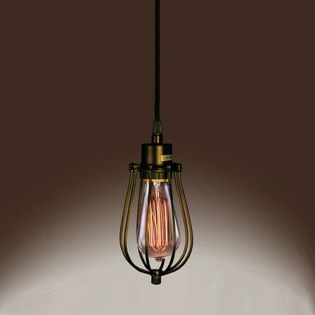 Priscilla Single-light Edison Pendant with Bulb ()
