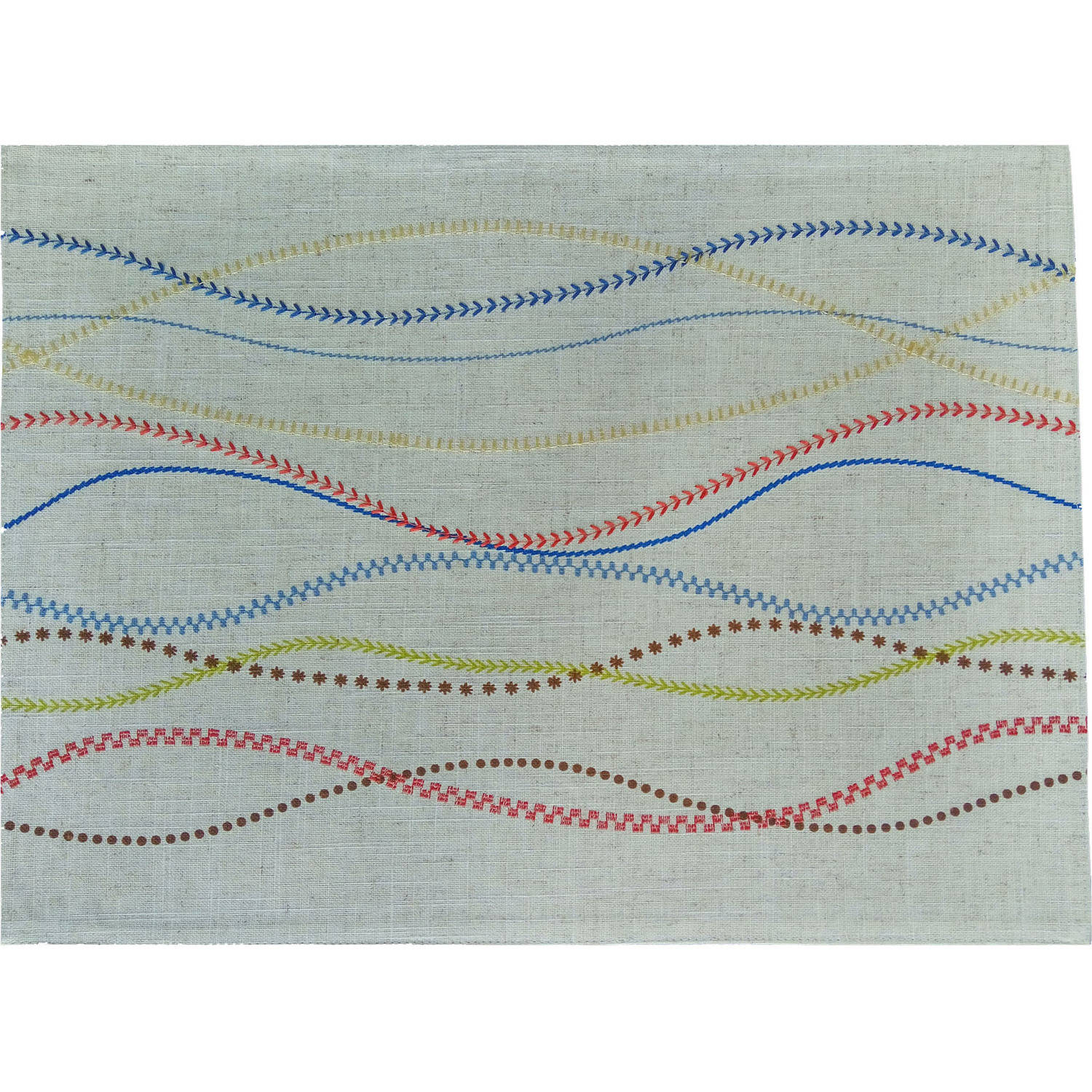 Better Homes and Gardens Embroidered 4-Piece Placemat, Ivory Multi-Color