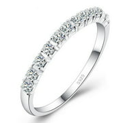 Women 925 Sterling Silver Simulated Diamond Ring