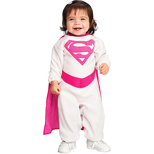Pink Supergirl Infant Halloween Costume