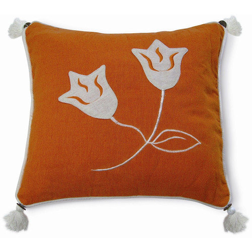 New Spec Inc Embroidery Lily Cotton Throw Pillow