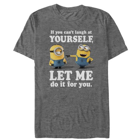 Despicable Me Men's Minion Laugh At You T-Shirt - Despicable Me Overalls