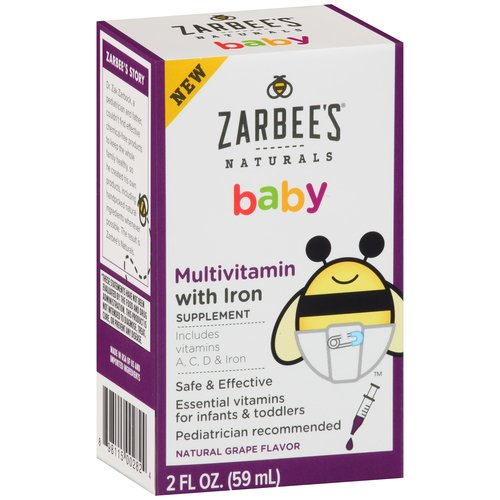 Multivitamin with iron for infants