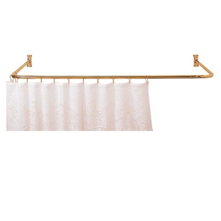 Shower Curtain Rod Bright Solid Brass 3 Sided Renovator 39 S Supply