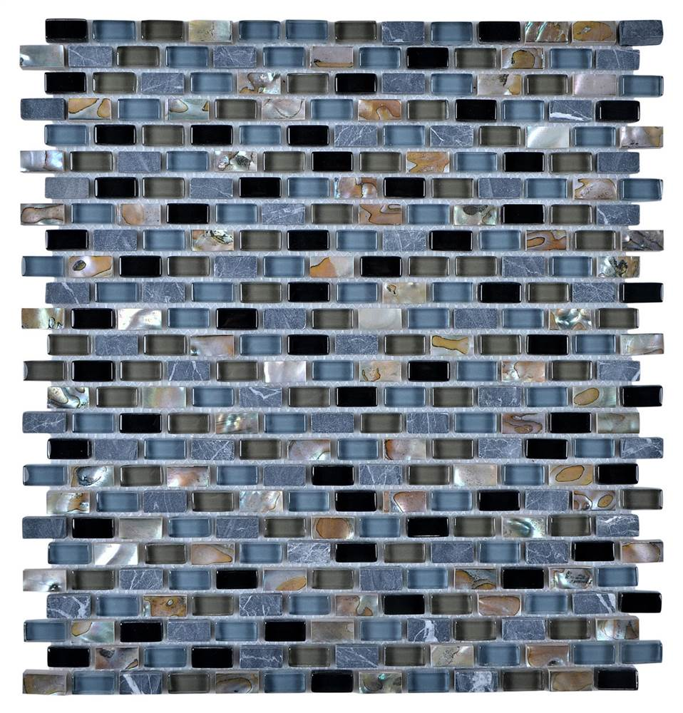 Mosaic Mix Wall Tile with Stone-SF