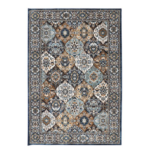 Karastan Spice Market Levant Sapphire Brown Area Rug by Mohwak Home