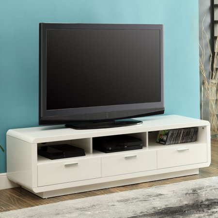 Acme Randell White Tv Stand For Flat Screen Tvs Up To 60 Walmart Com