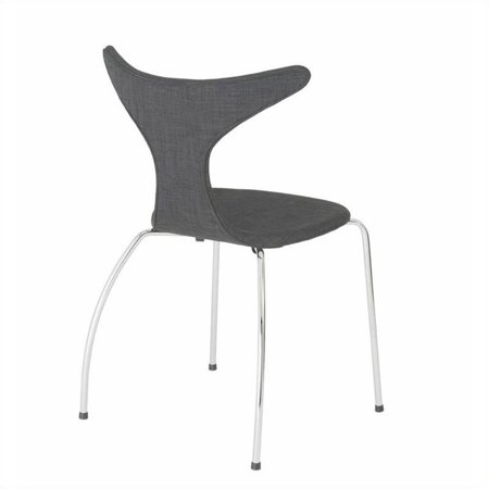 Eurostyle Frida  Dining Chair in Dark Gray Fabric - image 4 of 6