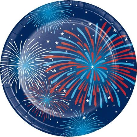 Firework Celebration Dessert Plates, 8 pack - Fourth Of July Plates