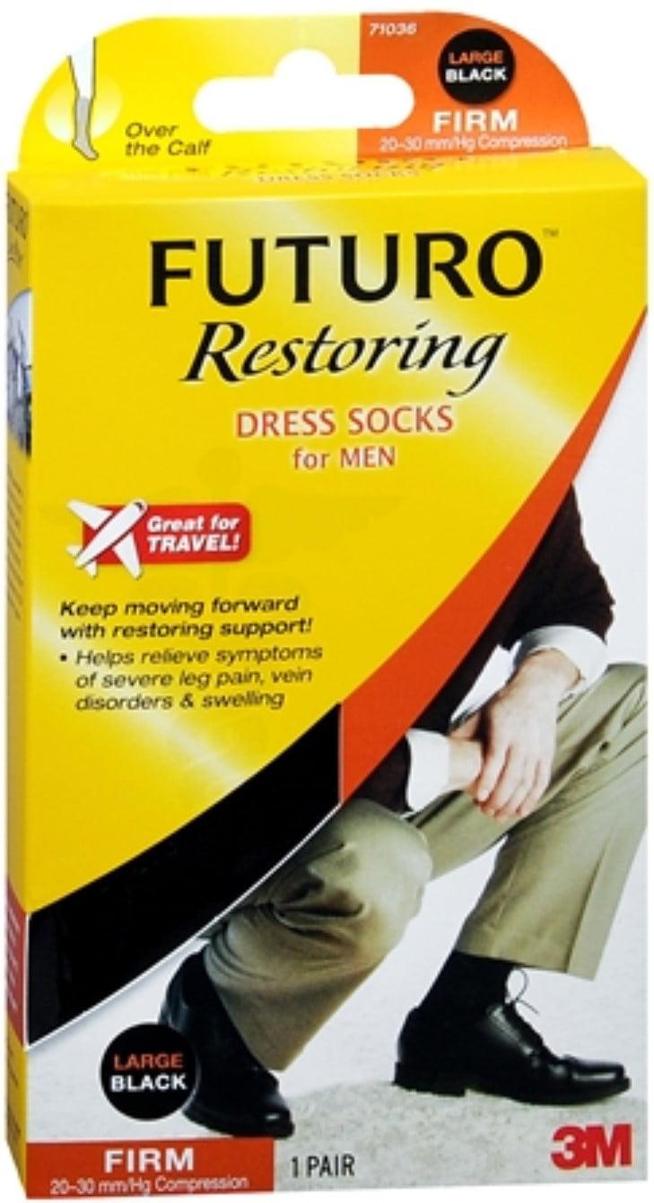 511deaf91cf9 FUTURO Restoring Dress Socks for Men, Large, Black - Walmart.com