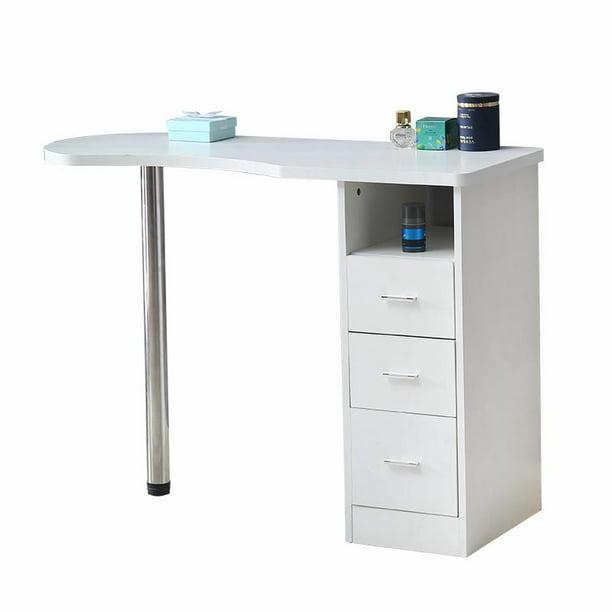 Ktaxon Salon Nail Manicure Wooden Table Work Station Laptop Home Desk W Drawers Beauty Walmart Com Walmart Com