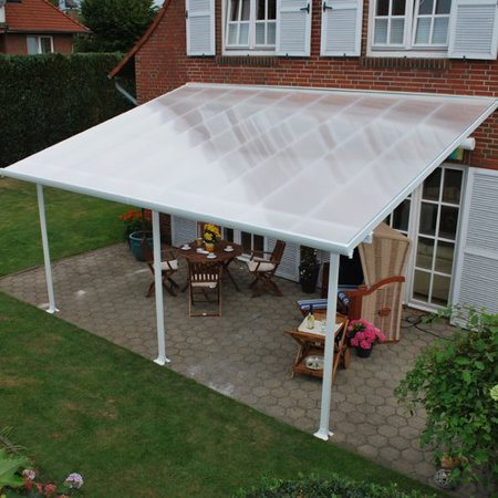 Palram Feria 10ft  H x 20ft  W x 10ft  D Patio Cover Awning