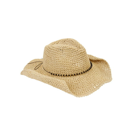 Eliza May Rose Women's Straw Cowboy Hat Distressed Straw Cowboy Hat