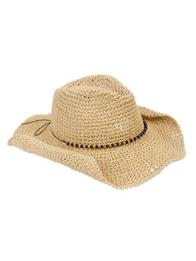 d3a86ecf4abf03 Product Image Eliza May Rose Women's Straw Cowboy Hat