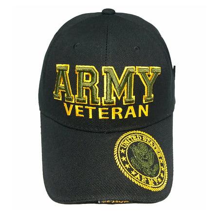 3eb722c0570 U.S. Military Hat ARMY VETERAN Black Hat Army Gear Baseball Cap Image 1 of 5