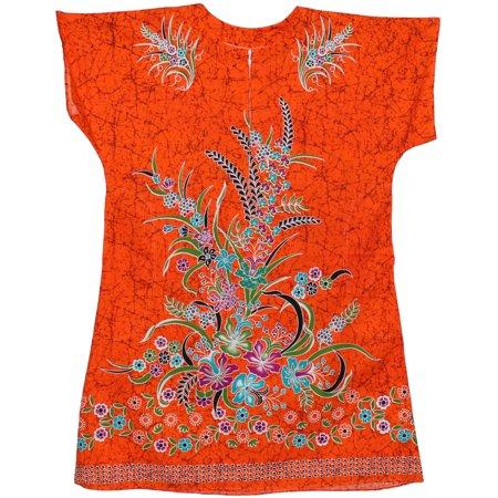 Dress Less Ladies (African Stars Womens Kaftan Cotton Easy Wear Dress Caftan Zipper Pockets)