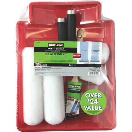 Shur-Line 8105RFN 9 Pieces Paint Roller Kit, Polypropylene