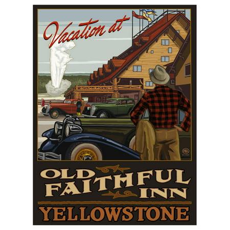 Yellowstone Old Faithful Inn Travel Art Print Poster by Paul A. Lanquist (9
