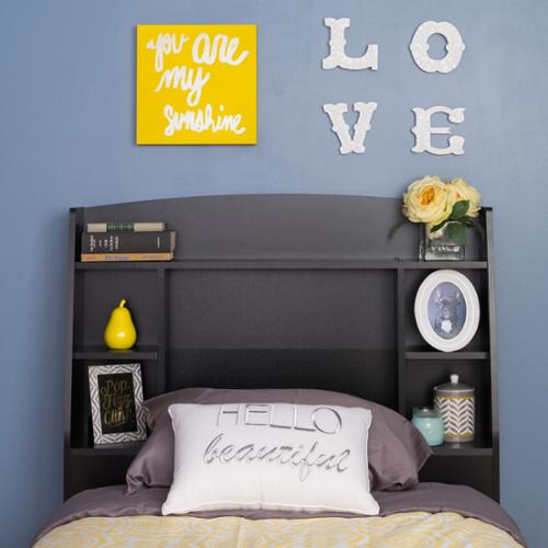 Prepac Bella Twin Headboard, Black by Overstock