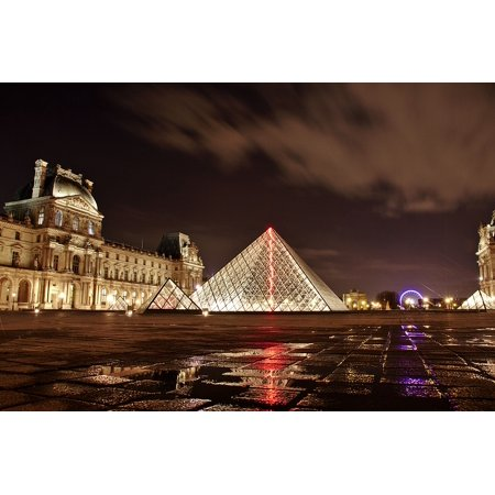 LAMINATED POSTER Paris Architecture Louvre Building Art France Poster Print 24 x 36