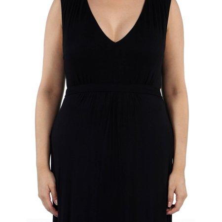 24/7 Comfort Apparel Women's Plus Island Fire Maxi Dress