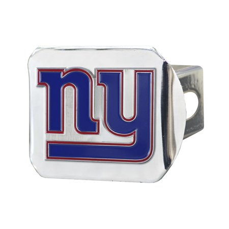 New York Giants Color on Chrome Hitch Cover - No Size