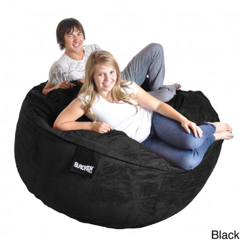 Slacker Sack 6-foot Round Corduroy Microfiber Suede and Memory Foam Giant Bean Bag Chair