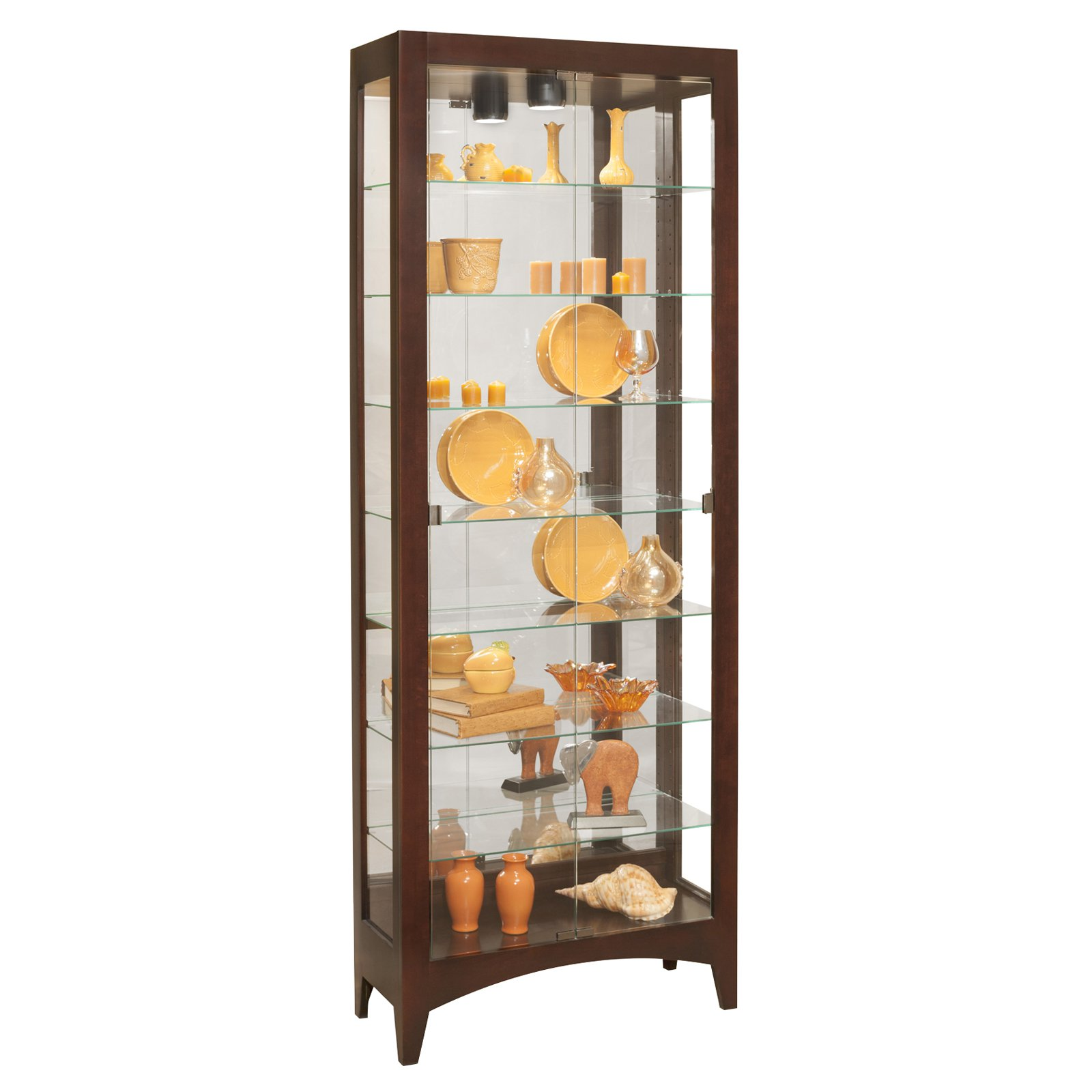 Philip Reinisch Company Lighthouse Simplicity II Bunching Shelve Curio Cabinet