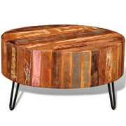 vidaXL Coffee Table Solid Reclaimed Wood Round