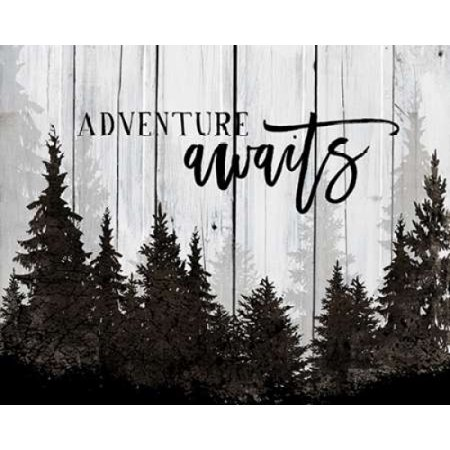 Adventure Awaits Poster Print by Amy Cummings