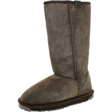 Emu Women's Stinger Hi Chocolate Mid-Calf Sheepskin Snow Boot - 5M