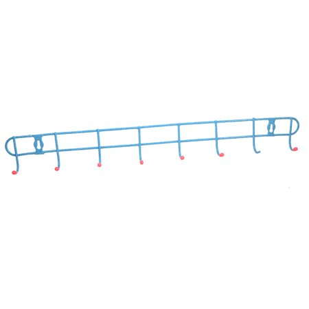 Unique Bargains Home Storage Wall Mounted Hook Rack for Shower Items Clothing Keys Features 8 Sturdy HooksMetal Wall Mounted Hangers RackHousehold Utility Hooks CollectionDurable and Easy to installCan be used to hang clothes, key, shower items, towel, Kitchenware or almost anything Within its load range