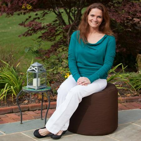 Fine Gold Medal 19 X 17 In Sunbrella Outdoor Indoor Weather Resistant Solid Pouf Machost Co Dining Chair Design Ideas Machostcouk