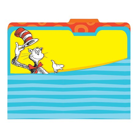 Fun Express - Dr Seuss File Folders - Stationery - Office Supplies - Desk Top - 4 Pieces - Fun Office