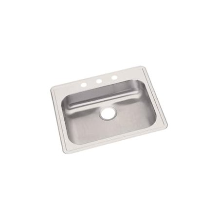 Elkay Dayton Drop In Steel Kitchen Sink GE125213 Radiant Satin