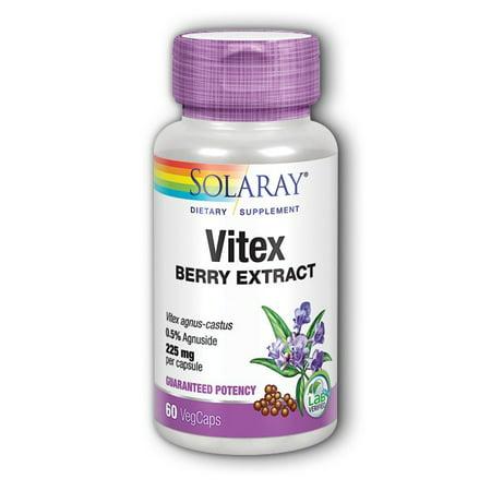 Vitex Chaste Berry Extract 225mg Solaray 60 Caps ()