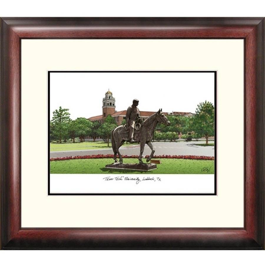 Texas Tech University Alumnus Framed Lithograph