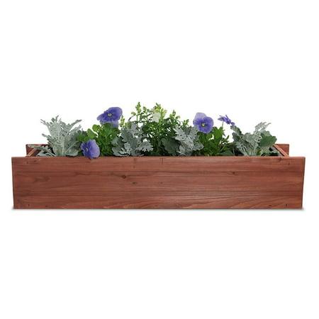 "Matthews Window Box with Planter Guard Heartwood, 6"" x 36"" x 7"""