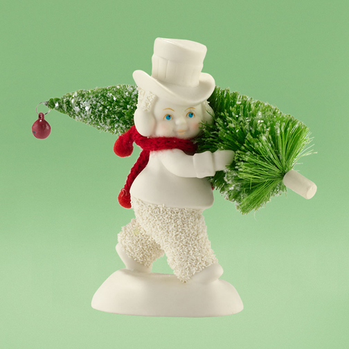 Department 56 Snowbabies 4031795 Toting The Tree 2013