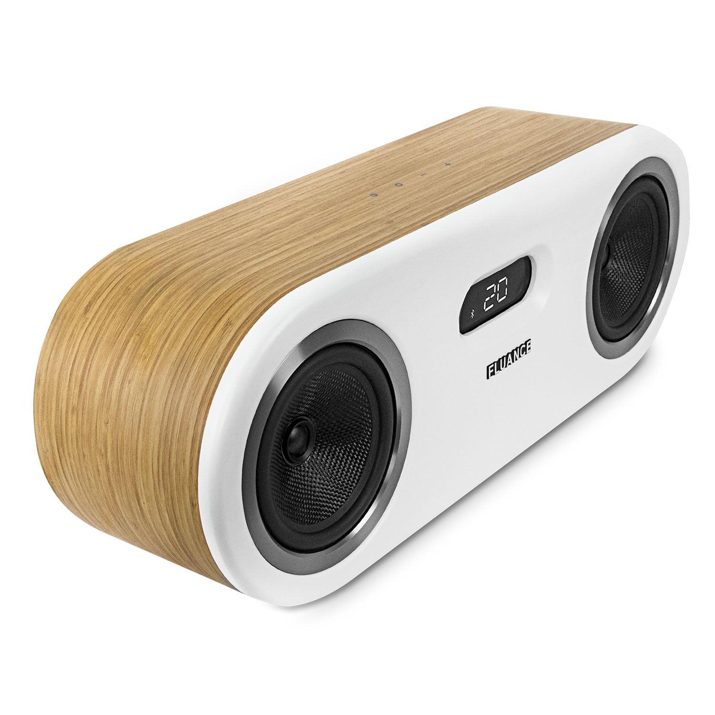 Fluance Fi50 Two-Way High Performance Wireless Bluetooth Premium Wood Speaker System with aptX Enhanced Audio (Lucky Bamboo) - image 9 de 11