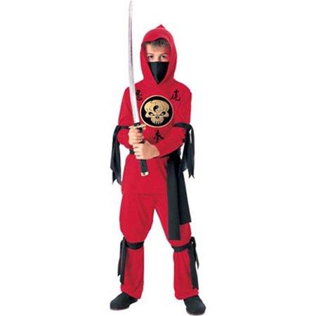 Child Red Ninja Costume Rubies 881039 - Red Ninja Costume