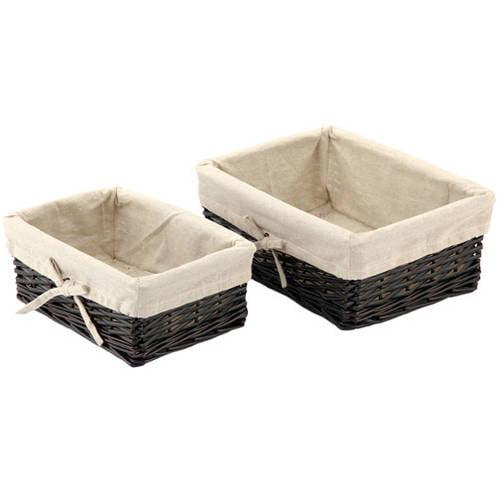 Mainstays Dark Willow Basket, Set of 2