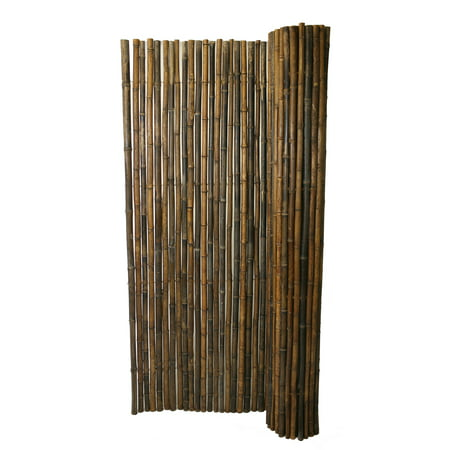 Backyard X-Scapes Bamboo Fencing, Natural Black (Bamboo Screen Fence)