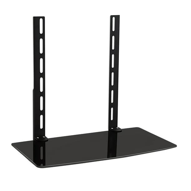 Mount It Tv Wall Mount Shelf Bracket Under Tv Av Components Shelf Black Walmart Com Walmart Com