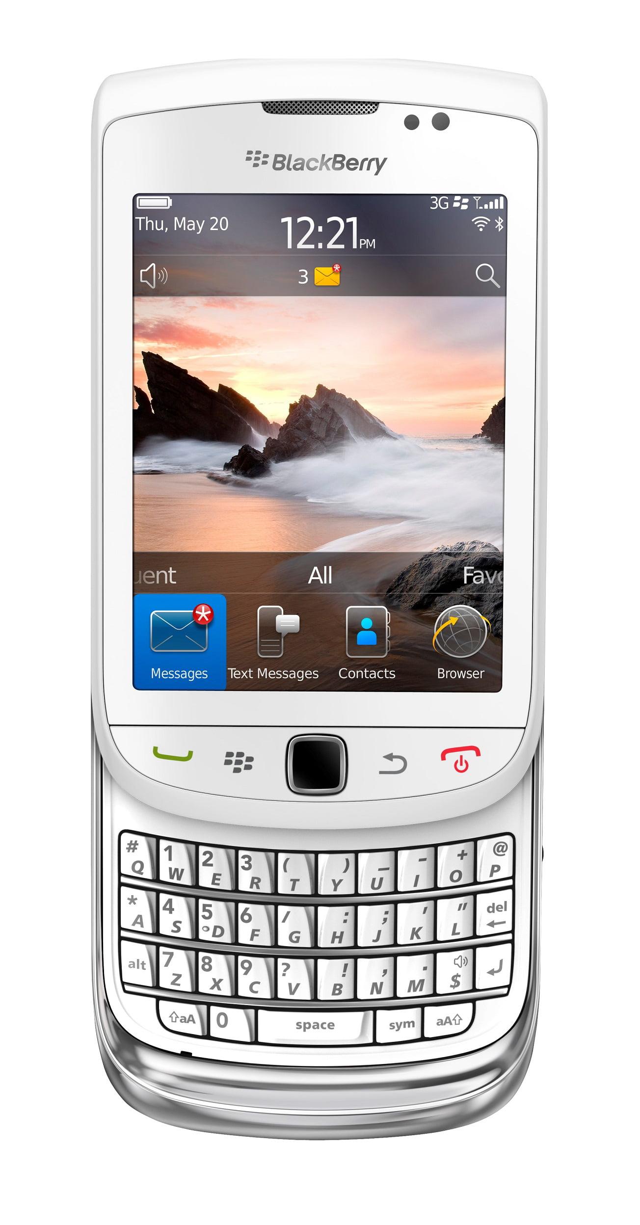 Blackberry Torch 9810 Unlocked GSM HSPA+ OS 7.0 Slider Cell Phone - White -  Walmart.com