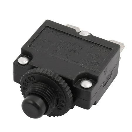 AC 125V/250V 10A 50/60Hz Momentary Press Button Switch Black 2 Terminals X-B1 - image 1 de 2