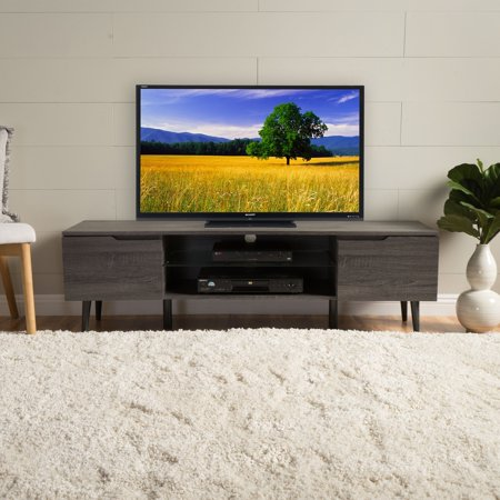 International Silver Century House (Noble House Cresent Mid Century Modern Wood TV Stand,)