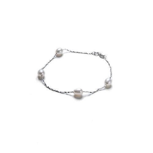 Eco Opulence Tin Cup Cultured Pearl Bracelet